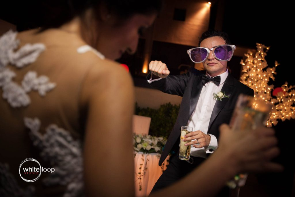 Photograph of Vero and Misael dancing at their wedding - Acapulco, Mexico