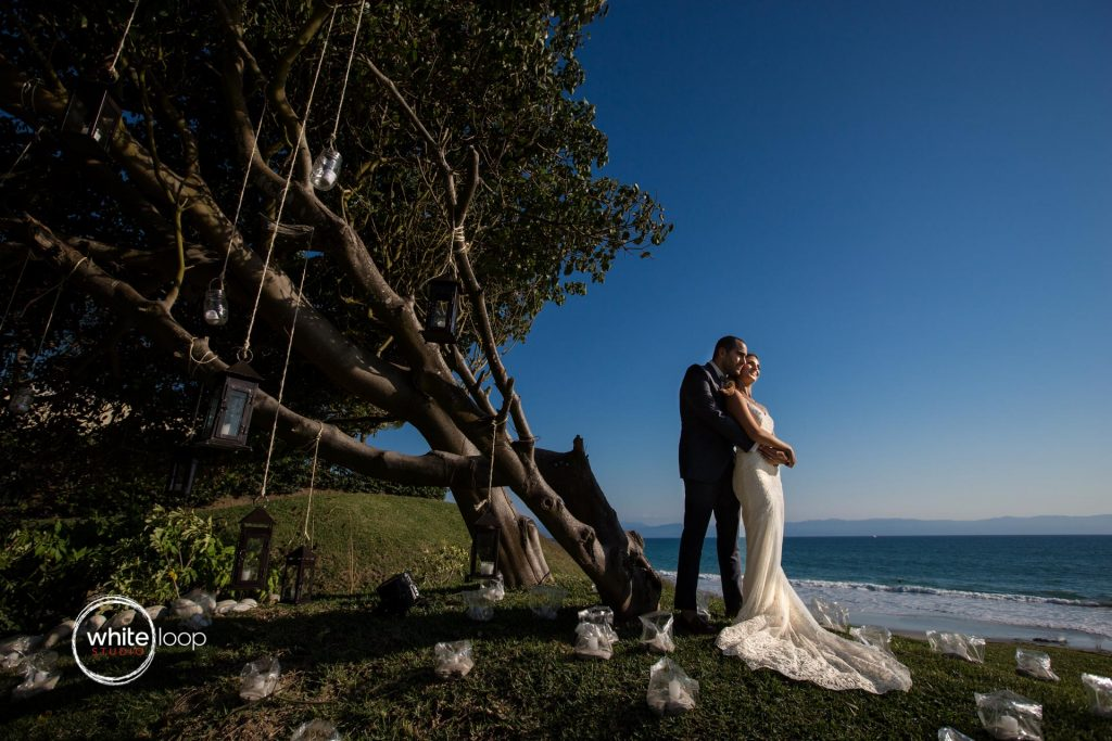 Ariela and Jonathan after their wedding, Nahui, Nayarit, Mexico