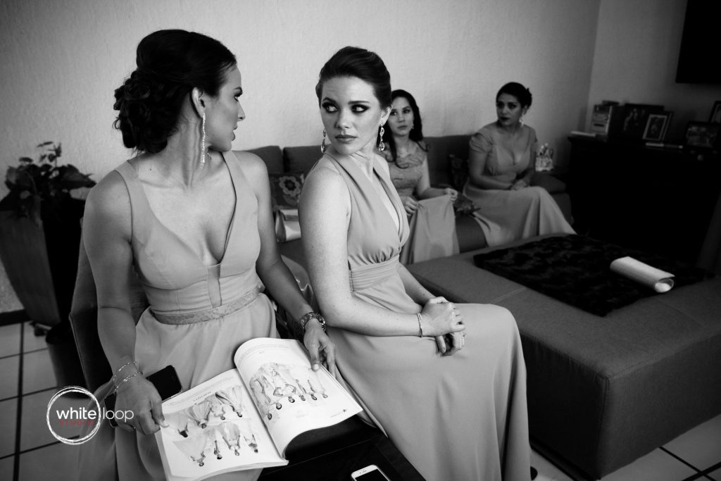 Claudia and Francisco getting ready for their wedding, Guadalajara, Mexico