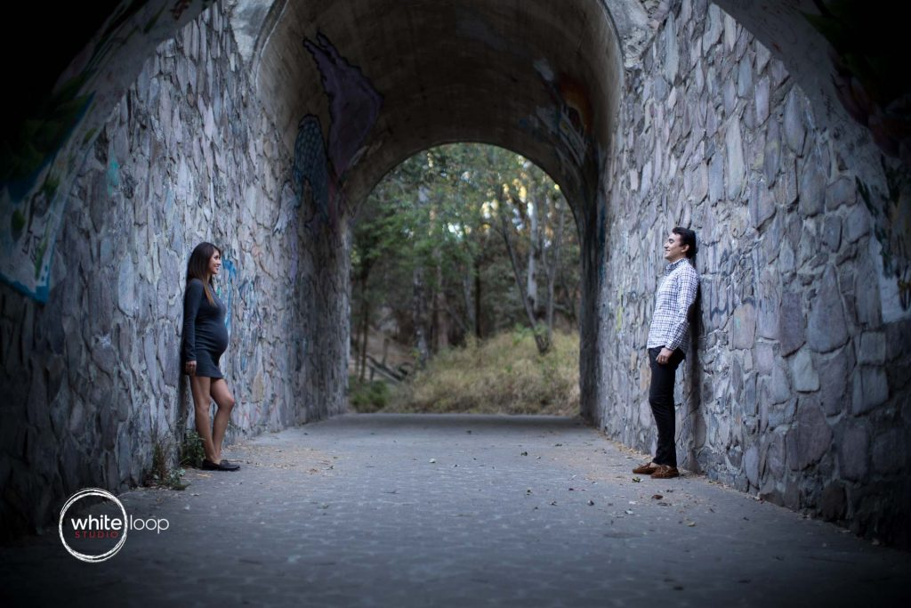 Vero, Misael and Santiago, Pregnancy session, Parque Colomos, Guadalajara, Mexico