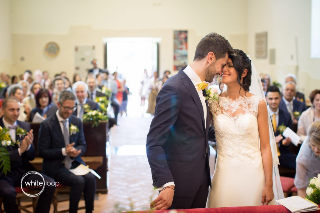 Silvia and Emanuele Wedding in Italy, Ceremony at Santa Maria dei Popoli, Preval by Davide Cristin