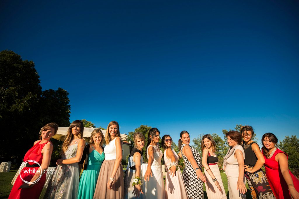 Silvia and Emanuele Wedding in Italy, Bride's Maids at Baronesse Tacco, San Floriano del Collio by Alina Zardo