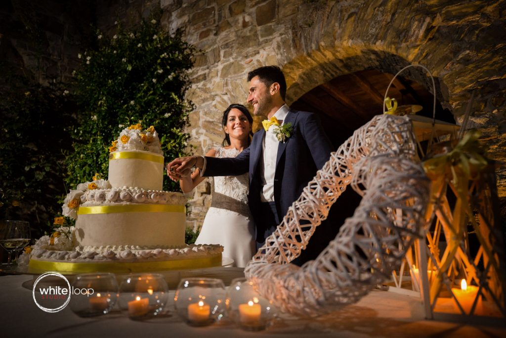 Silvia and Emanuele Wedding in Italy, Wedding Cake at Baronesse Tacco, San Floriano del Collio by Alina Zardo