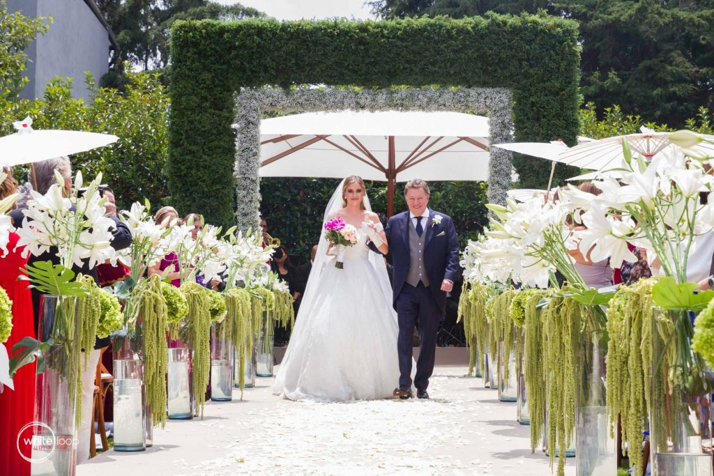 Paola and Gaston Wedding at Cedros Garden, Ceremony