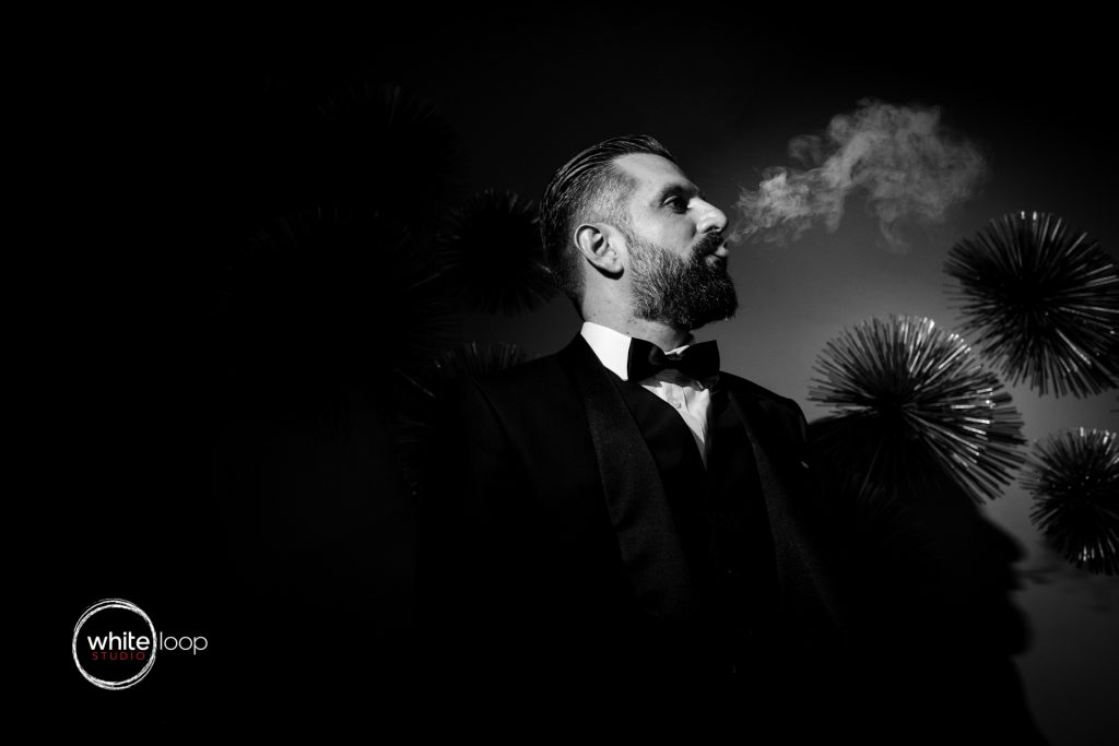 Erandy and Paris Wedding, Groom Portrait, Greek Wedding in Guadalajara, Casa Fayette