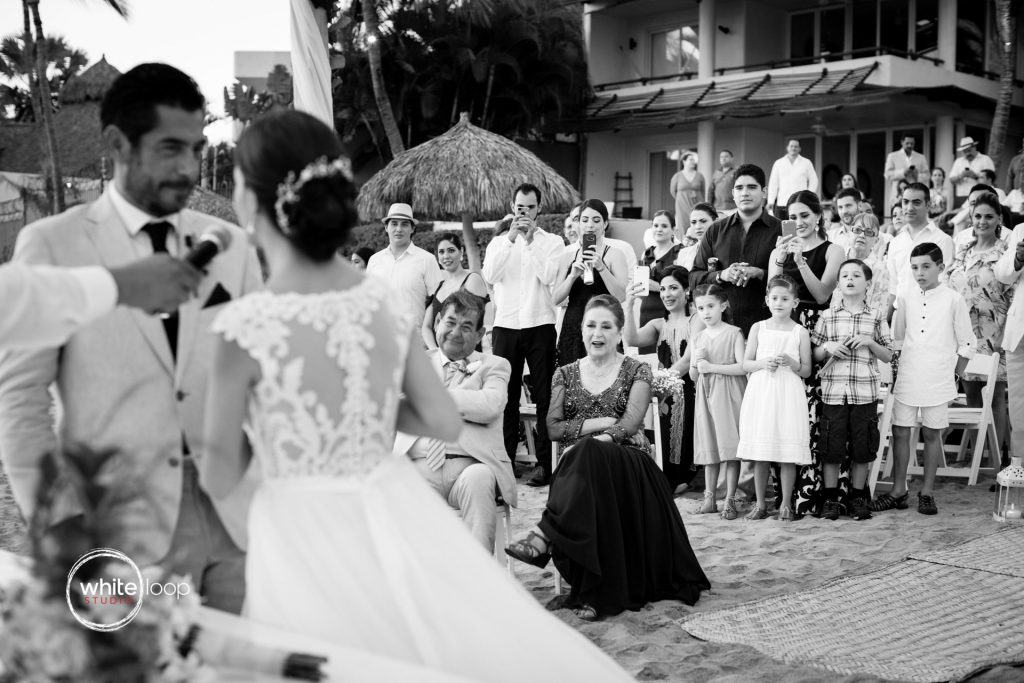 Anita and Ramon Wedding, The Ceremony on the beach, Bucerias, Nayarit, Mexico