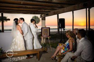 Marbela and Victor Wedding, Ceremony on the beach, Puerto Escondido, Oaxaca