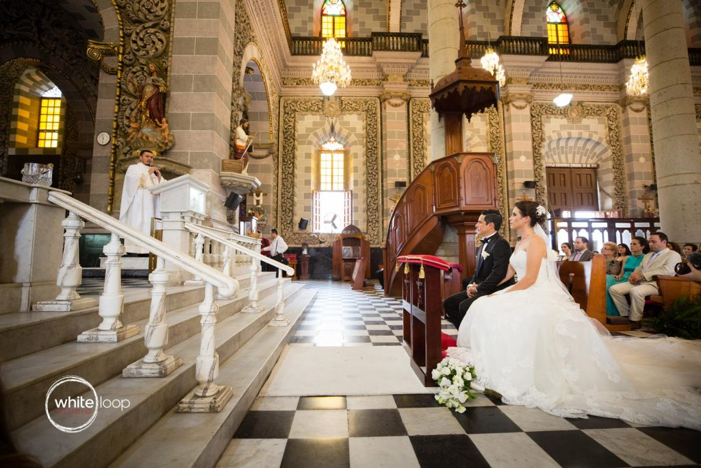 Eloisa and Pedro Wedding, Ceremony, Mazatlan Cathedral, Sinaloa
