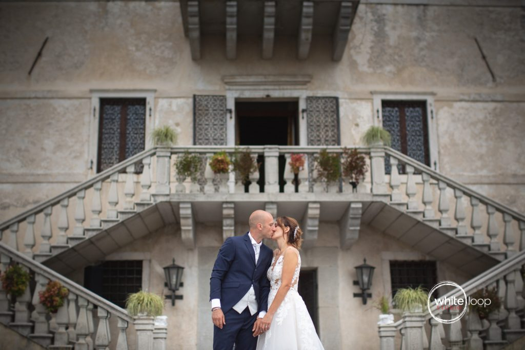 Sara and Riccardo Wedding, Bride and Groom Portrait, Castello di Susans, Gorizia, Italy