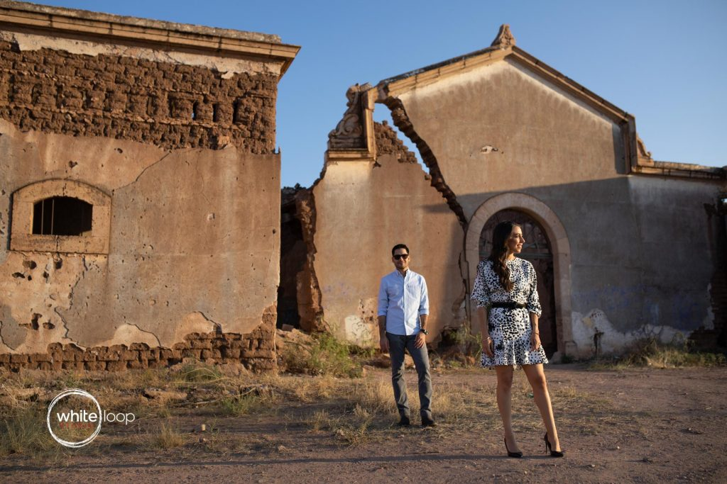 Begonia and Cesar, engagement session, Meson Quinta Carolina, Chihuahua, Mexico